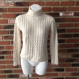 Talbots Silk & Cashmere Cable Knit Sweater sz S